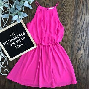 Lush Hot Pink Dress